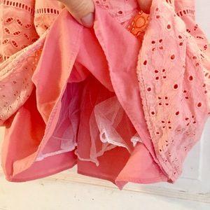 Rare Editions Dresses - Everything BOGO Free 🌈 Coral Eyelet Dress